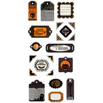 We R Memory Keepers - Black Widow Collection - Halloween - Self Adhesive Layered Chipboard - Tags