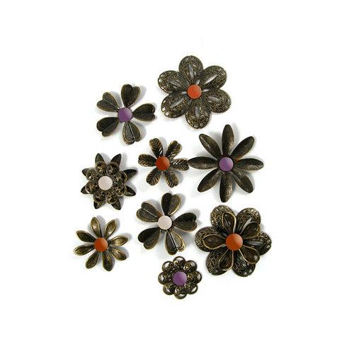We R Memory Keepers - Black Widow Collection - Halloween - Metal Flowers