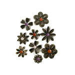 We R Memory Keepers - Black Widow Collection - Halloween - Metal Flowers