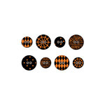 We R Memory Keepers - Black Widow Collection - Halloween - Fabric Buttons