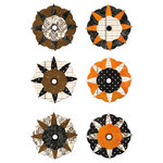 We R Memory Keepers - Black Widow Collection - Halloween - Flower Brads