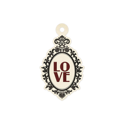 We R Memory Keepers - Antique Chic Collection - Embossed Tags - Love