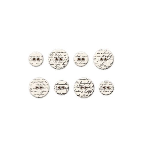 We R Memory Keepers - Antique Chic Collection - Fabric Buttons