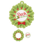 We R Memory Keepers - Yuletide Collection - Christmas - Embossed Tags - Mini Frames - Deck The Halls