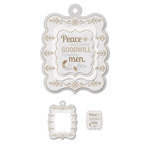 We R Memory Keepers - Yuletide Collection - Christmas - Embossed Tags - Mini Frames - Peace