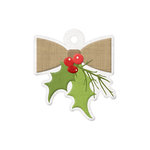We R Memory Keepers - Yuletide Collection - Christmas - Embossed Tags - Mistletoe
