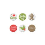 We R Memory Keepers - Yuletide Collection - Christmas - Mini Badges