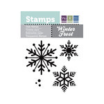 We R Memory Keepers - Winter Frost Collection - Clear Acrylic Stamps - Snowflakes