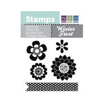 We R Memory Keepers - Winter Frost Collection - Clear Acrylic Stamps - Flowers