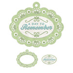 We R Memory Keepers - Winter Frost Collection - Embossed Tags - Mini Frames - Day to Remember