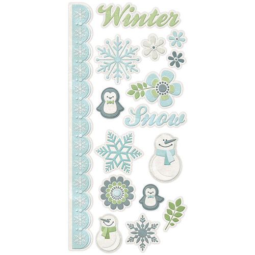 We R Memory Keepers - Winter Frost Collection - Embossed Cardstock Stickers