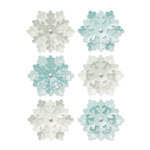 We R Memory Keepers - Winter Frost Collection - Flower Brads
