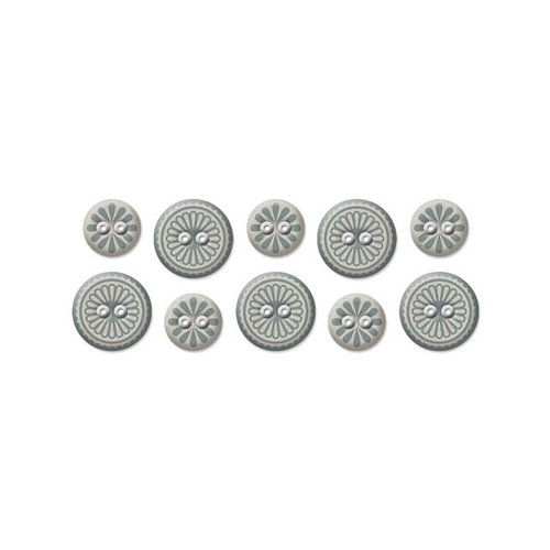We R Memory Keepers - Winter Frost Collection - Fabric Buttons