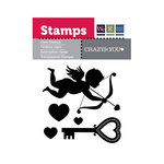 We R Memory Keepers - Crazy For You Collection - Clear Acrylic Stamps - Cupid