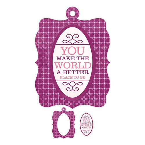 We R Memory Keepers - Crazy For You Collection - Embossed Tags - Mini Frames - Better Place