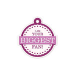We R Memory Keepers - Crazy For You Collection - Embossed Tags - Biggest Fan