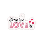We R Memory Keepers - Crazy For You Collection - Embossed Tags - True Love