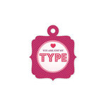 We R Memory Keepers - Crazy For You Collection - Embossed Tags - My Type