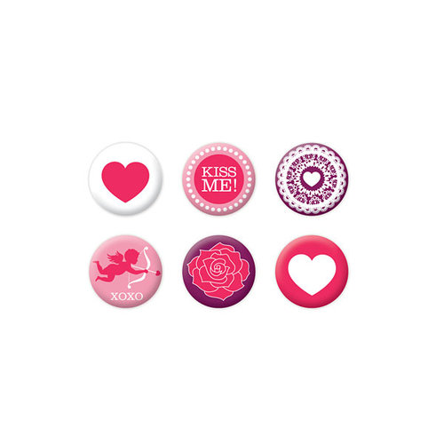 We R Memory Keepers - Crazy For You Collection - Mini Badges
