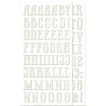 We R Memory Keepers - For the Record Collection - Self Adhesive Chipboard with Glitter Accents - Alphabet