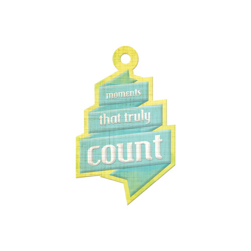 We R Memory Keepers - Feelin' Groovy Collection - Embossed Tags - Count