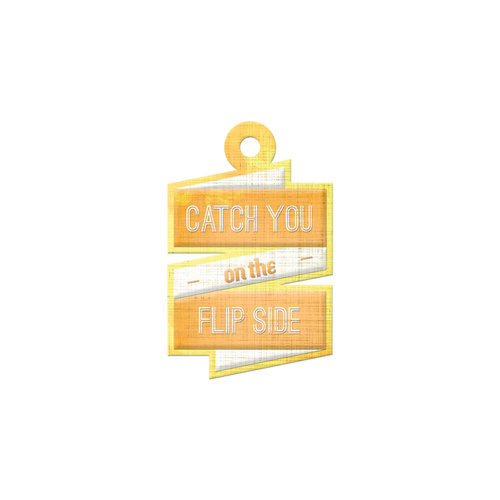 We R Memory Keepers - Feelin' Groovy Collection - Embossed Tags - Flip Side