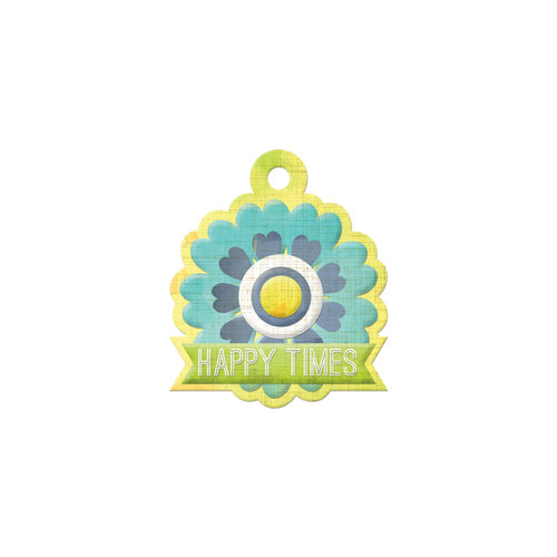 We R Memory Keepers - Feelin' Groovy Collection - Embossed Tags - Happy Times