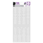 We R Memory Keepers - Label Stickers - Tab - Sans Serif - White