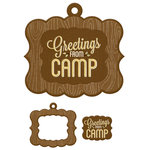 We R Memory Keepers - Happy Campers Collection - Embossed Tags - Mini Frames - Greetings