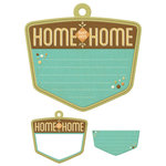 We R Memory Keepers - Happy Campers Collection - Embossed Tags - Mini Frames - Home
