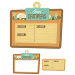 We R Memory Keepers - Happy Campers Collection - Embossed Tags - Mini Frames - Happy Campers