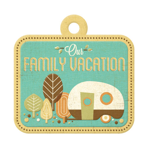 We R Memory Keepers - Happy Campers Collection - Embossed Tags - Family Vacation