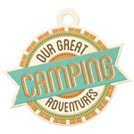 We R Memory Keepers - Happy Campers Collection - Embossed Tags - Camping Adventure