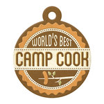 We R Memory Keepers - Happy Campers Collection - Embossed Tags - Camp Cook