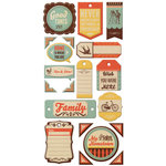 We R Memory Keepers - Country Livin' Collection - Self Adhesive Layered Chipboard with Glossy Accents - Tags