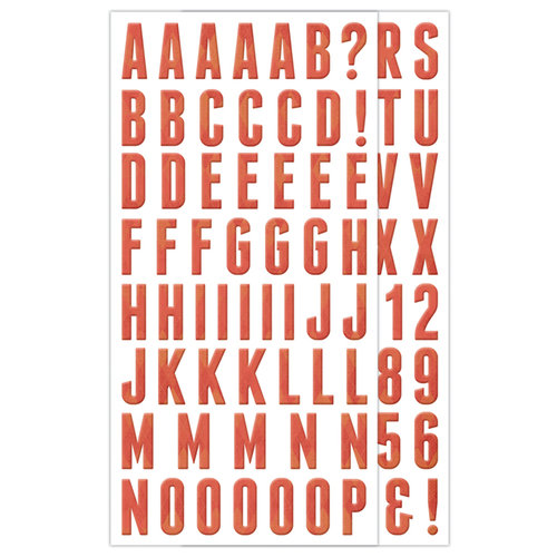 We R Memory Keepers - Country Livin' Collection - Self Adhesive Chipboard with Glossy Accents - Alphabet