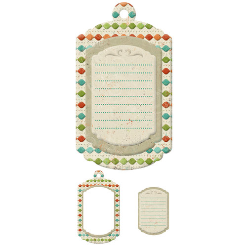 We R Memory Keepers - Storytime Collection - Embossed Tags - Mini Frames - Journal
