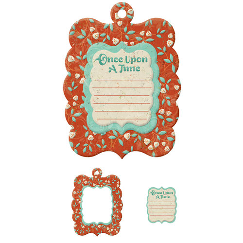 We R Memory Keepers - Storytime Collection - Embossed Tags - Mini Frames - Once