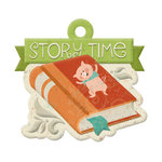 We R Memory Keepers - Storytime Collection - Embossed Tags - Story Time
