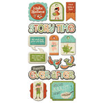 We R Memory Keepers - Storytime Collection - Self Adhesive Layered Chipboard with Glitter Accents - Tags