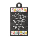 We R Memory Keepers - Chalkboard Collection - Embossed Tags - Be You