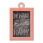We R Memory Keepers - Chalkboard Collection - Embossed Tags - Happy