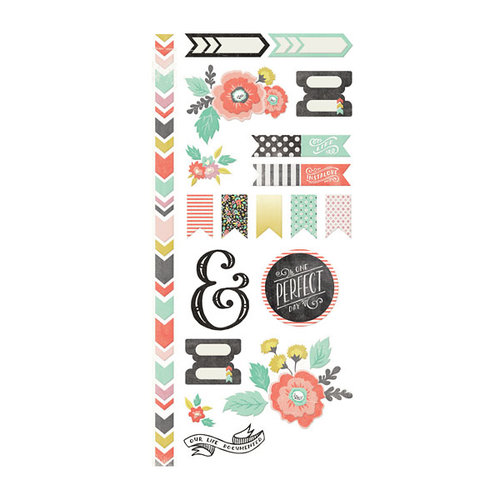 We R Memory Keepers - Chalkboard Collection - Embossed Cardstock Stickers