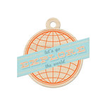 We R Memory Keepers - Jet Set Collection - Wood Tag - Explore