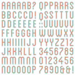 We R Memory Keepers - Jet Set Collection - Chipboard Stickers with Foil Accents - Alphabet