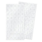We R Memory Keepers - Little One Collection - Alpha Block Plastic Stickers - Alphabet