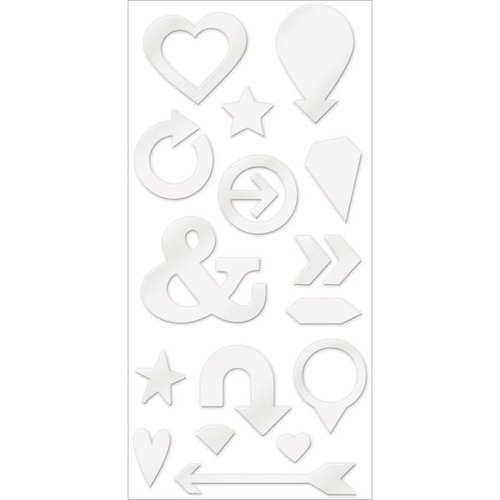 We R Memory Keepers - Shine Collection - Acrylic Shape Stickers