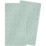 We R Memory Keepers - Shine Collection - Alpha Block Plastic Stickers - Alphabet