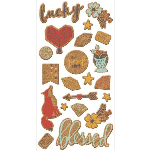 We R Memory Keepers - Shine Collection - Cork Stickers