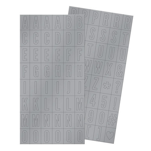 We R Memory Keepers - Silver and Gold Collection - Christmas - Alpha Block Plastic Stickers - Alphabet